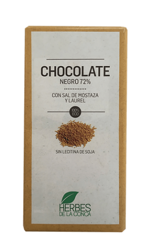 CHOCOLATE CON SAL DE MOSTAZA Y LAUREL